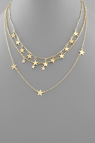 STAR CHARMS LAYER NECKLACE