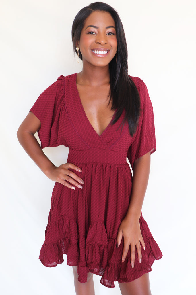 CANDY CONNECTION RUFFLED DRESS- 2 COLORS