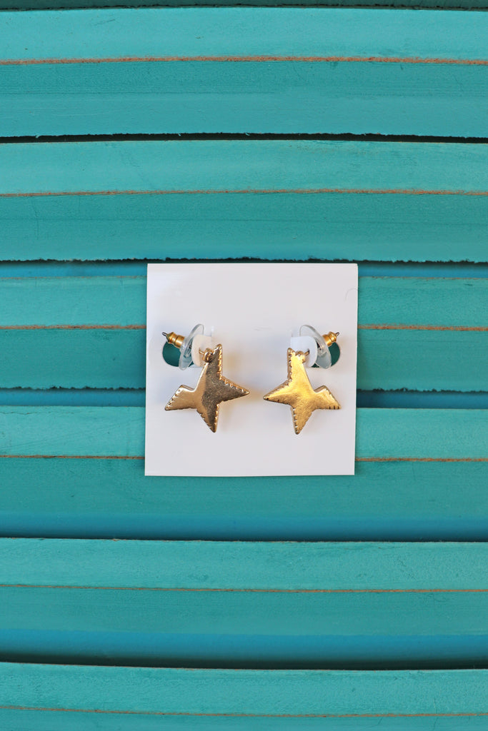STAR HOOP EARRINGS | GOLDEN STELLA Blu Spero online shopping