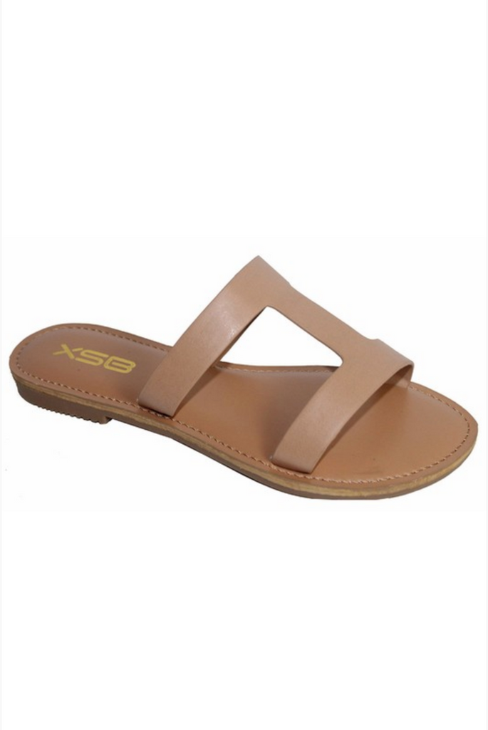 MEG GLADIATOR LIGHT TAN SANDAL