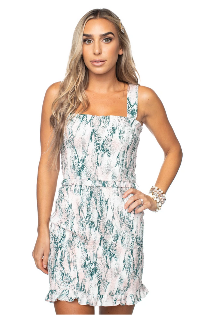 NEVER BACK DOWN SMOCKED DRESS | BUDDY LOVE Blu Spero online shopping