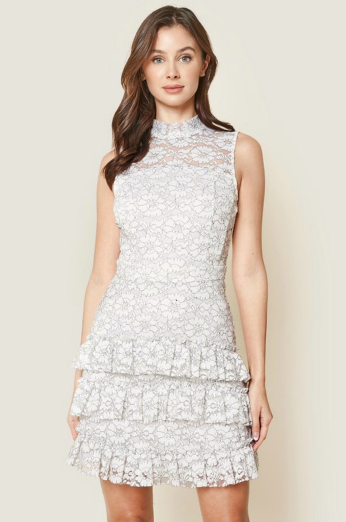 ROMANTIC NIGHTS MINI LACE DRESS