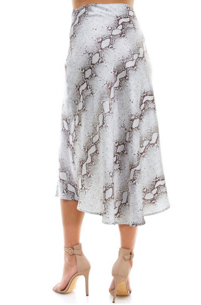 ONE GOOD REASON SNAKE PRINT MIDI SKIRT | TCEC Blu Spero online shopping