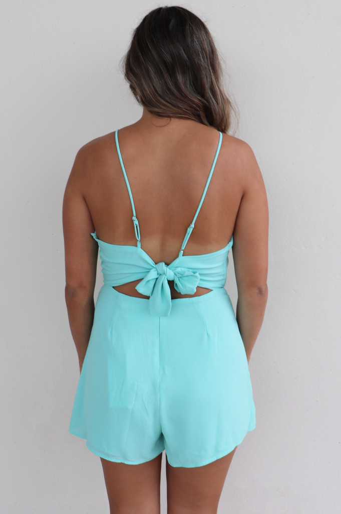 MEET ME IN THE MIDDLE MINT ROMPER
