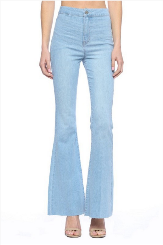 EMPTY SPACES LIGHT WASH FLARES | CELLO JEANS Blu Spero online shopping