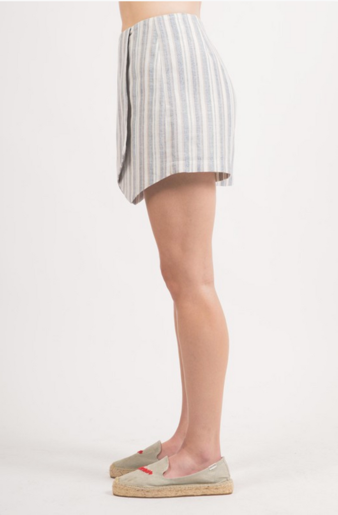 HEAD OVER HEELS STRIPED SKORT | LOVERICHE Blu Spero online shopping
