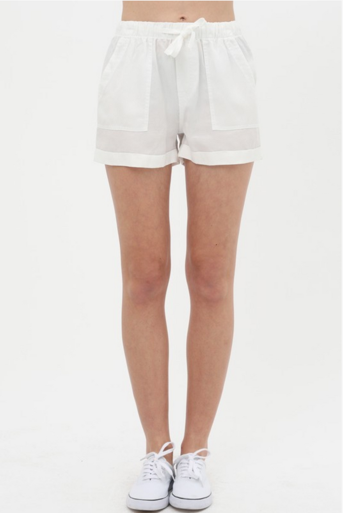AWESOME BLOSSOM POCKET CONTRAST SHORTS | STYLE MELODY Blu Spero online shopping