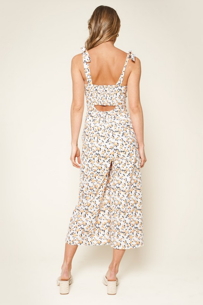 SUNDAY FUNDAY FLORAL PRINT JUMPSUIT | Sugar Lips Blu Spero online shopping