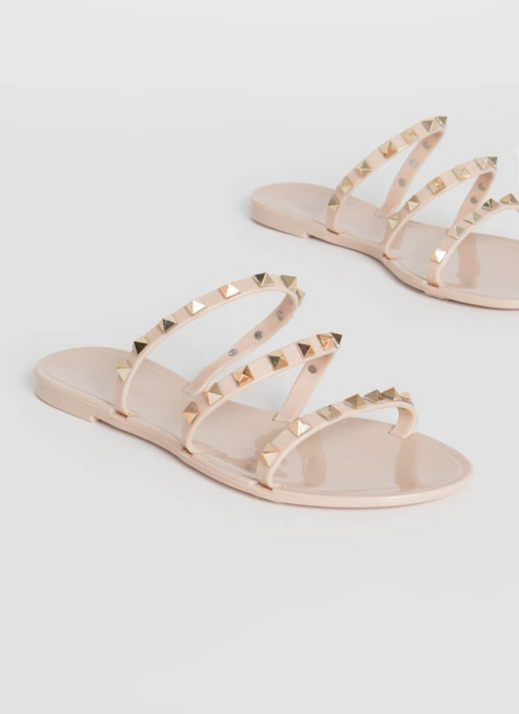 JOAN STUDDED NUDE SANDALS
