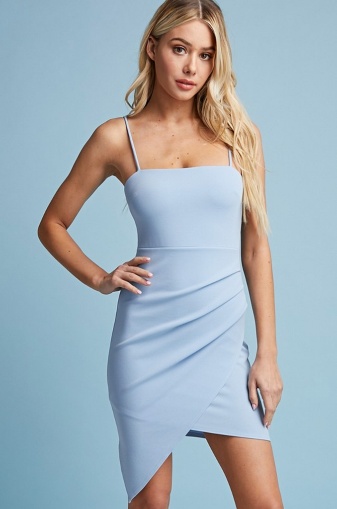 STAYING UP LATE BODYCON DRESS - 2 COLORS | BLUE BLUSH Blu Spero online shopping
