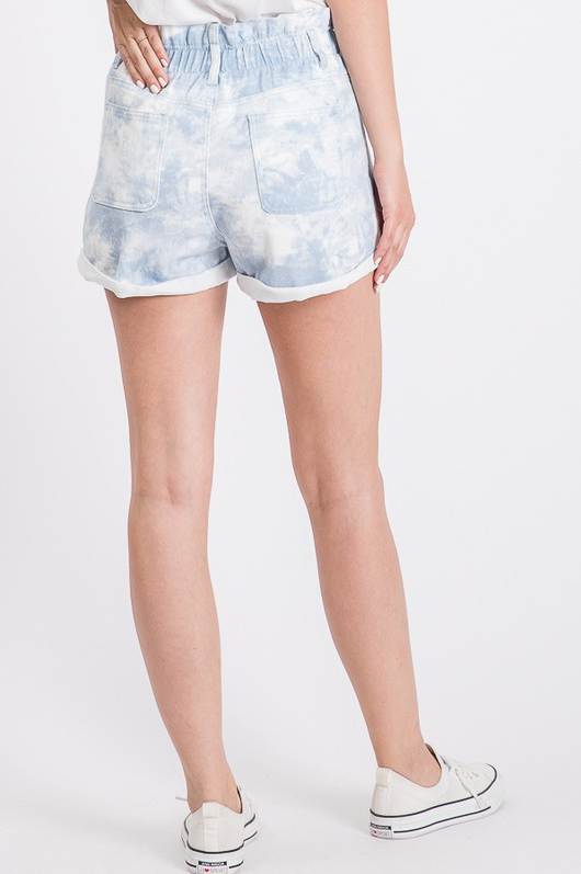 MAGICAL PLACE TIE-DYE DENIM SHORTS