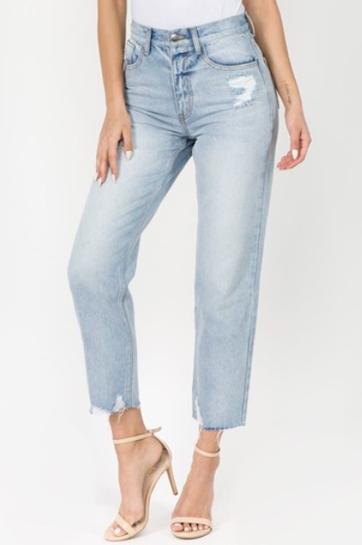 SUGAR PIE TAPERED CROPPED JEANS