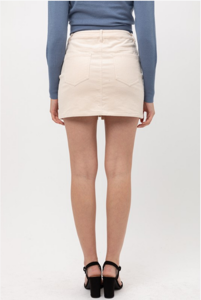 DARLING IN DAFFODIL CORDUROY SKIRT | Love Tree Fashion Blu Spero online shopping