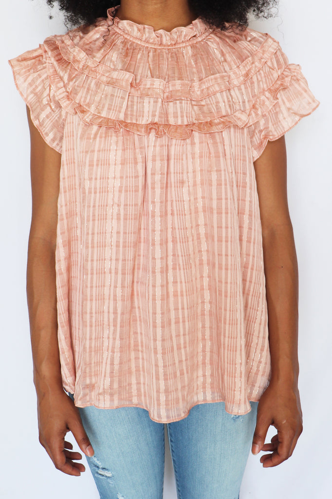 CAN'T COPE ROSE BLOUSE | DO + BE Blu Spero online shopping