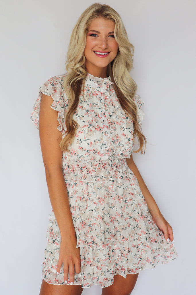 ALL I SEE IS YOU FLORAL MINI DRESS | FANCO Blu Spero online shopping
