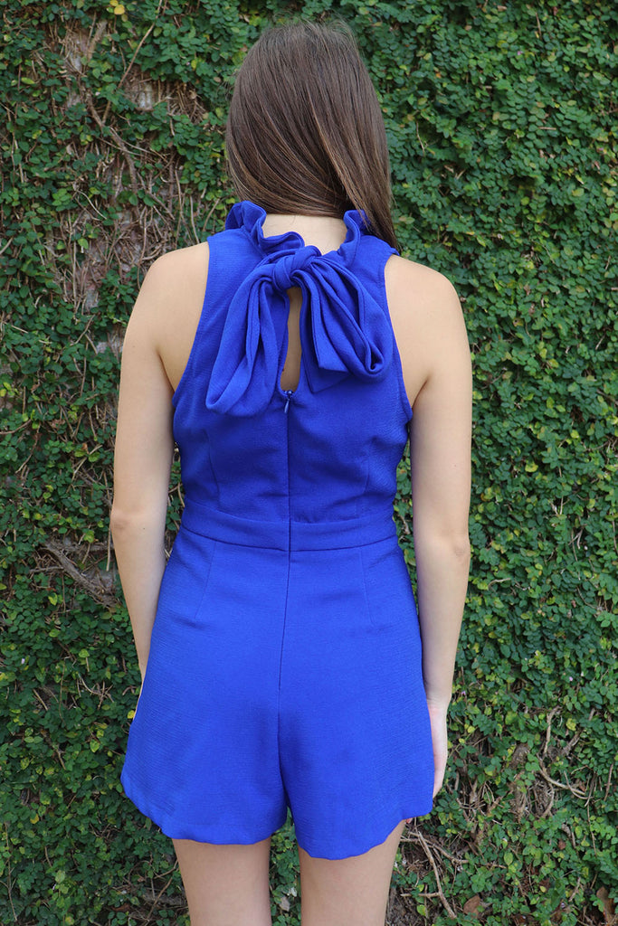 A NIGHT IN THE CITY ROYAL BLUE ROMPER