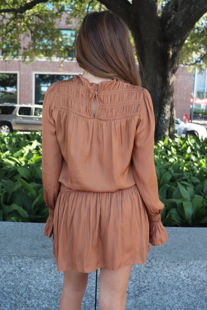 TIMELESS NEUTRALS LONG SLEEVE DRESS