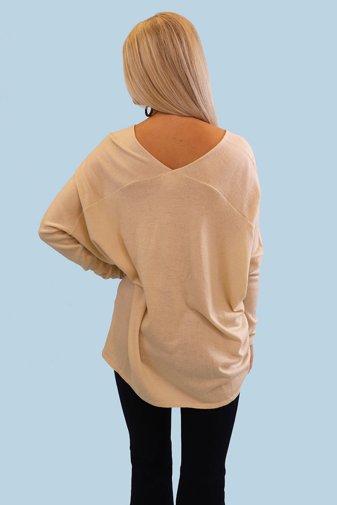 GETAWAY LONG SLEEVE BONE SWEATER