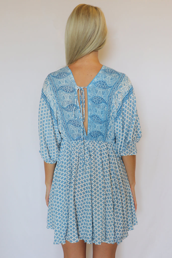SLOW DANCE BEACHY BLUE DRESS | Olivaceous Blu Spero online shopping