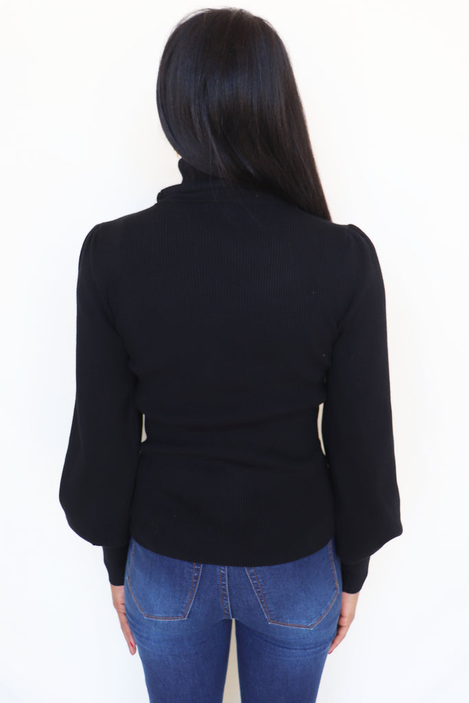RUN THE WORLD BLACK TURTLENECK | Love Tree Fashion Blu Spero online shopping