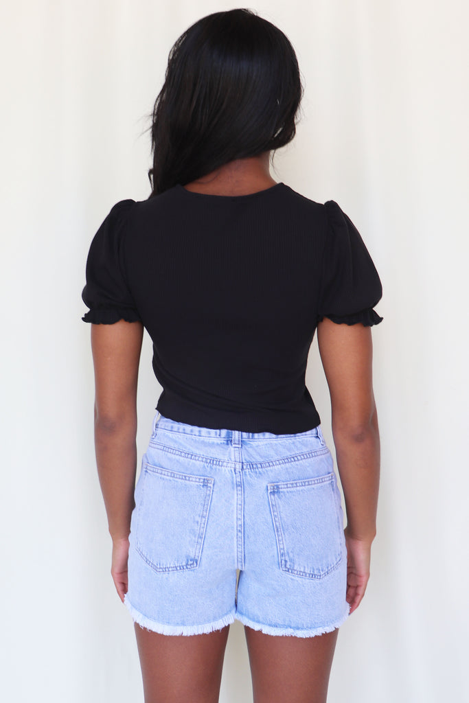THE WILD ONE BLACK CROP TOP