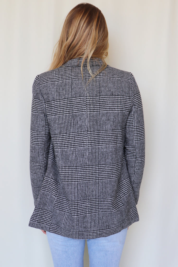 ON A MISSION PLAID BLAZER