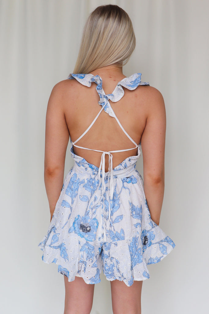 RUN TO ME FLORAL ROMPER - 2 COLORS