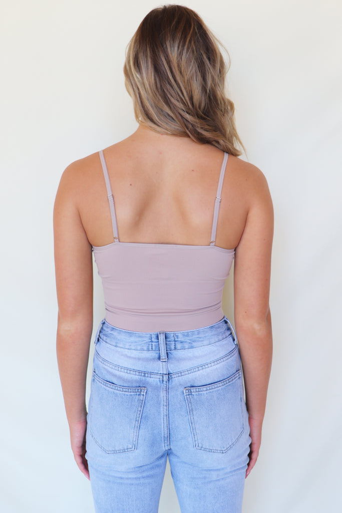 START WITH BASICS RIBBED TAUPE CROP TOP | DYNAMIC FASHION Blu Spero online shopping
