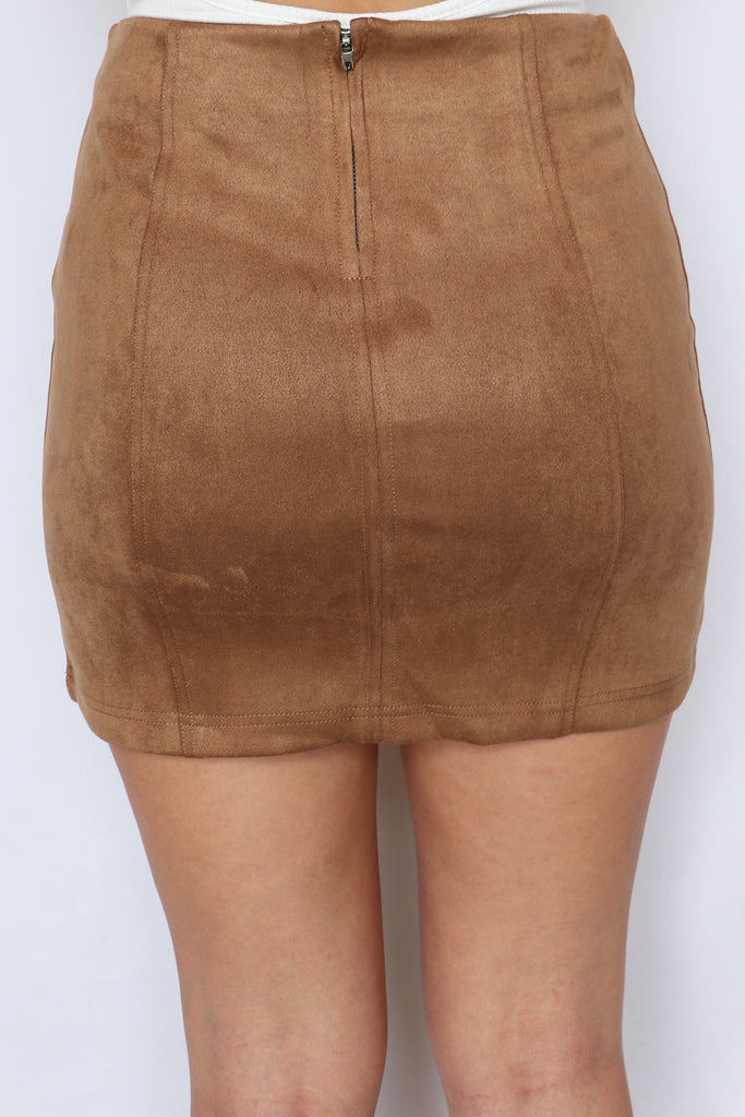 ALL ABOUT YOU CAMEL SUEDE SKIRT | LE LIS Blu Spero online shopping
