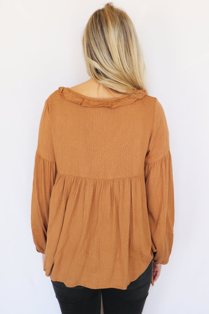 LOVE ON IT FALL TOP | Peach Love Blu Spero online shopping