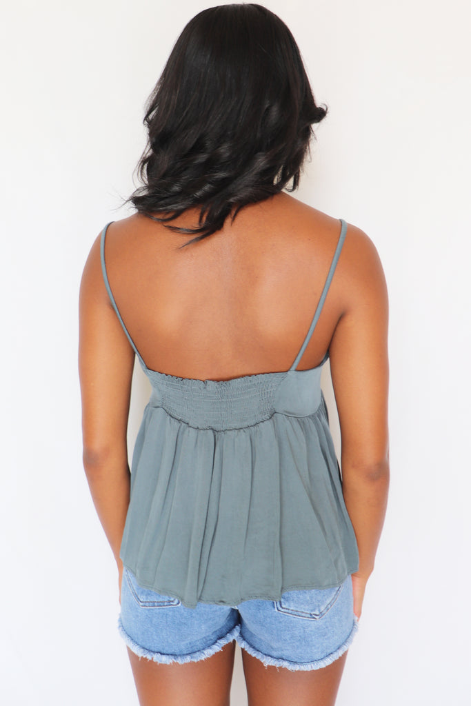 FRIEND OF MINE CAMI TANK | FINAL TOUCH Blu Spero online shopping