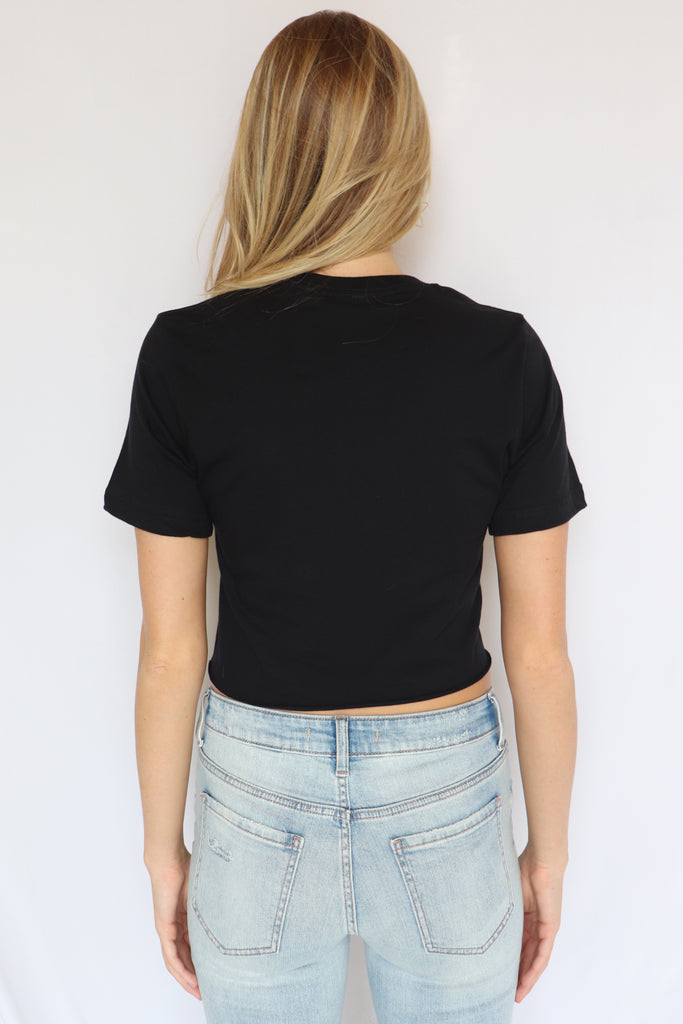 GET 'EM TIGER BLACK CROP TOP | ALPHIA Blu Spero online shopping