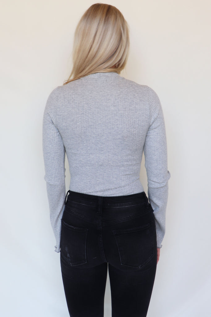 ONLY THING I KNOW GREY BODYSUIT | LE LIS Blu Spero online shopping