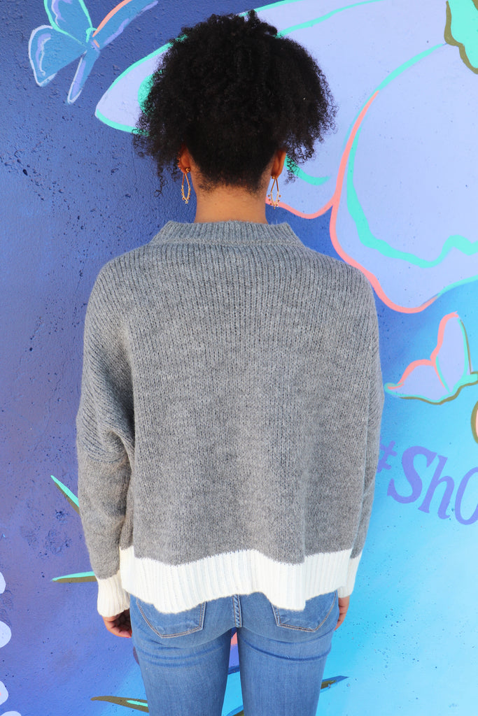 COMFORT IS A MUST GREY SWEATER | VENTI 6 Blu Spero online shopping