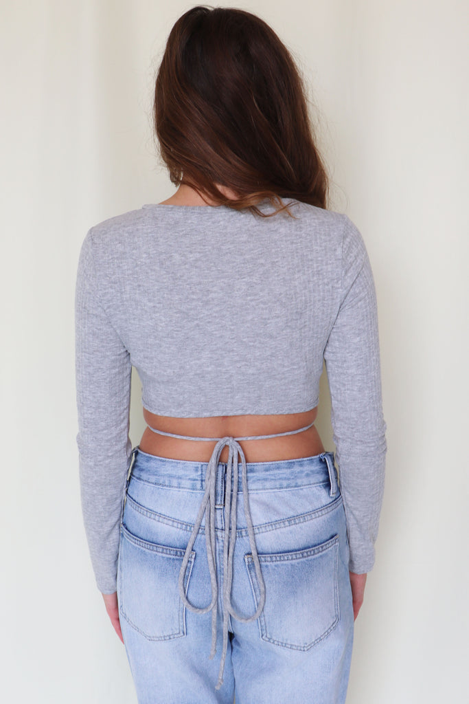 CAN'T HARDLY WEIGHT GREY CROP TOP | FINAL TOUCH Blu Spero online shopping