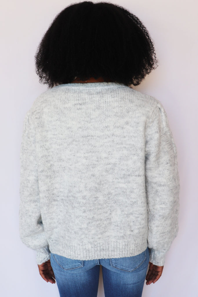 READ BETWEEN THE LINES GREY SWEATER | &MERCI Blu Spero online shopping