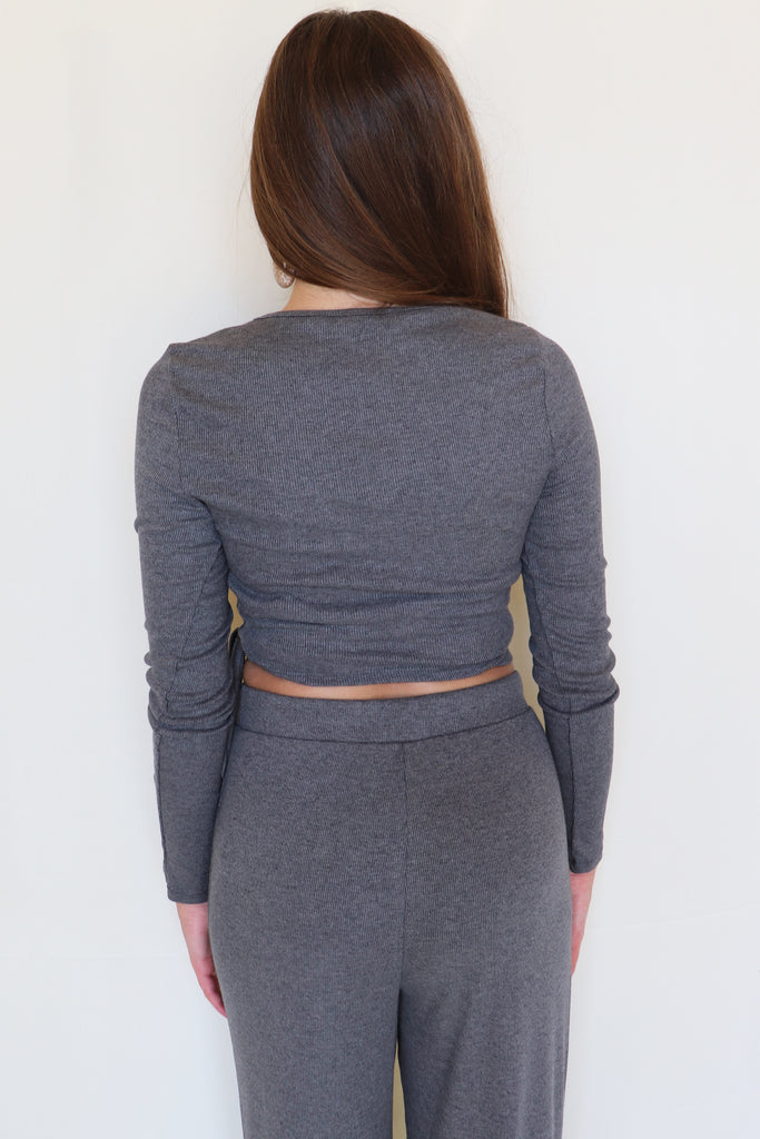 LATE TO THE PARTY WRAPPED CROP TOP | BLUE BLUSH Blu Spero online shopping