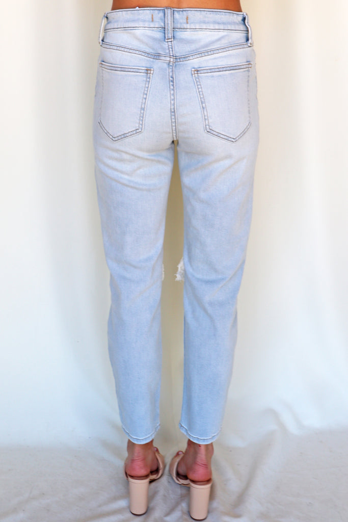 POWERFUL THOUGHTS LIGHT WASH DENIM