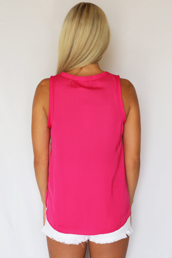 STRAWBERRY SORBET HOT PINK TANK TOP | NAKED ZEBRA Blu Spero online shopping