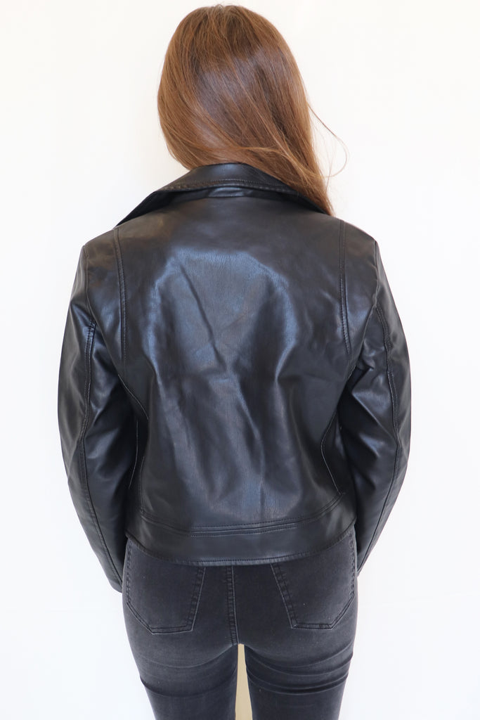 DO IT MY WAY LEATHER JACKET | HYFVE Blu Spero online shopping