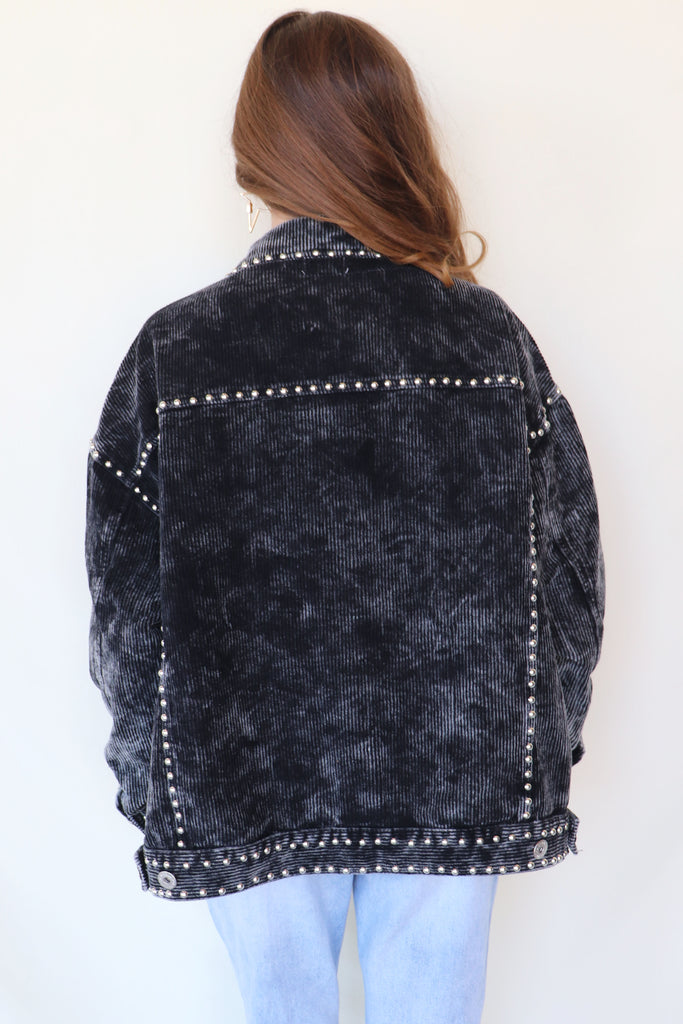 BETTER WITH STUDS CORDUROY JACKET | POL Blu Spero online shopping