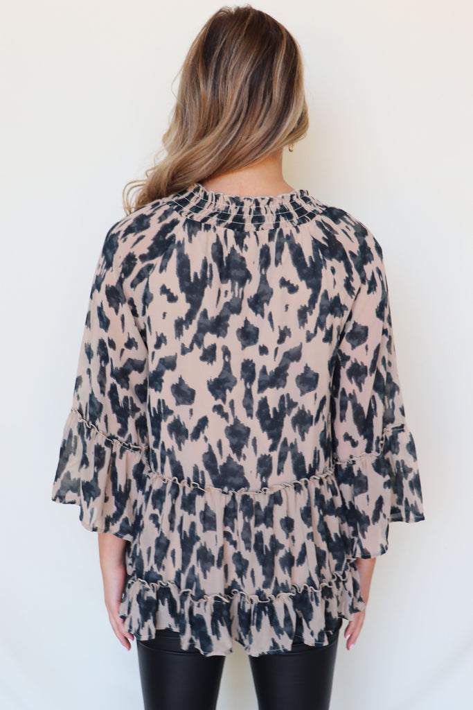 ALL TO MYSELF TIERED BLOUSE | Entro Blu Spero online shopping