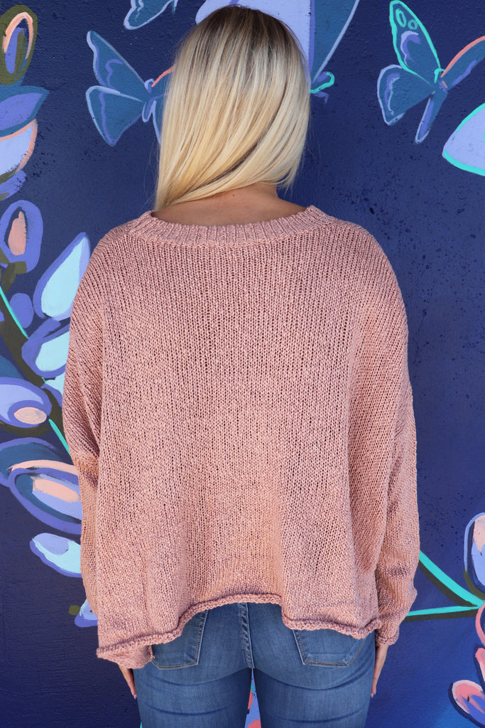REAL TALK OVERSIZED SWEATER - 2 COLORS | SHE + SKY Blu Spero online shopping