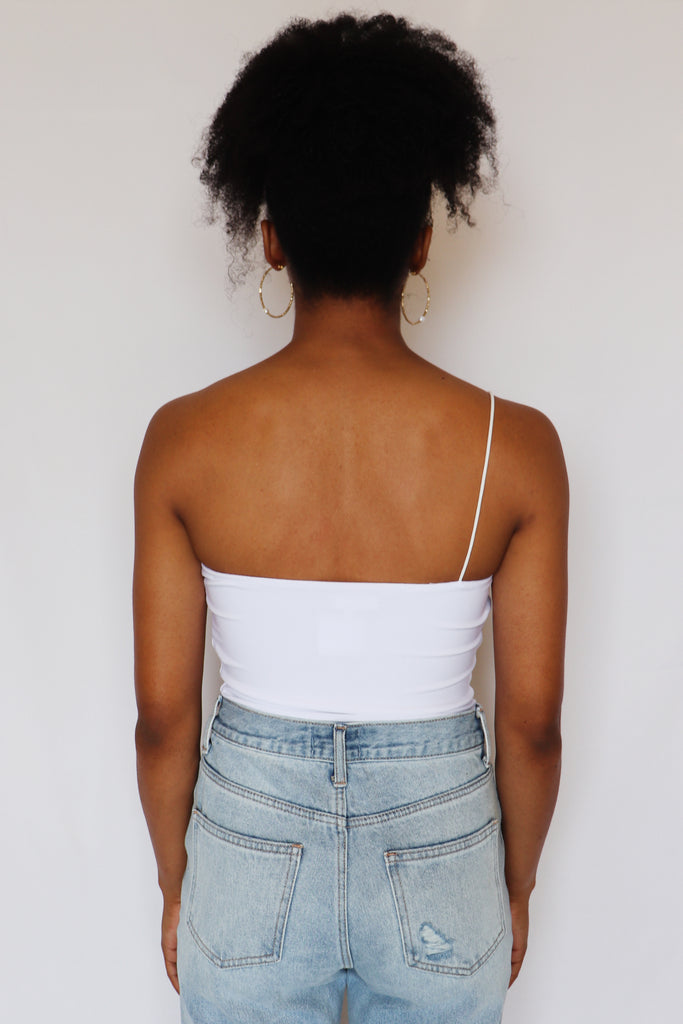 STUCK WITH YOU ONE SHOULDER BODYSUIT | BETTER BE Blu Spero online shopping