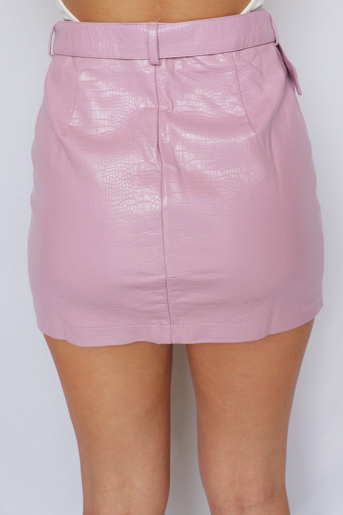 SEE YOU AGAIN PINK MINI SKIRT | LE LIS Blu Spero online shopping