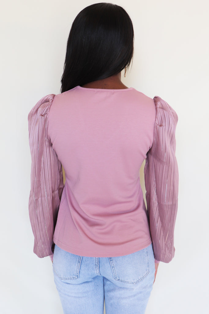SWEETHEART VIBES LONG SLEEVE BLOUSE | ON TWELFTH Blu Spero online shopping