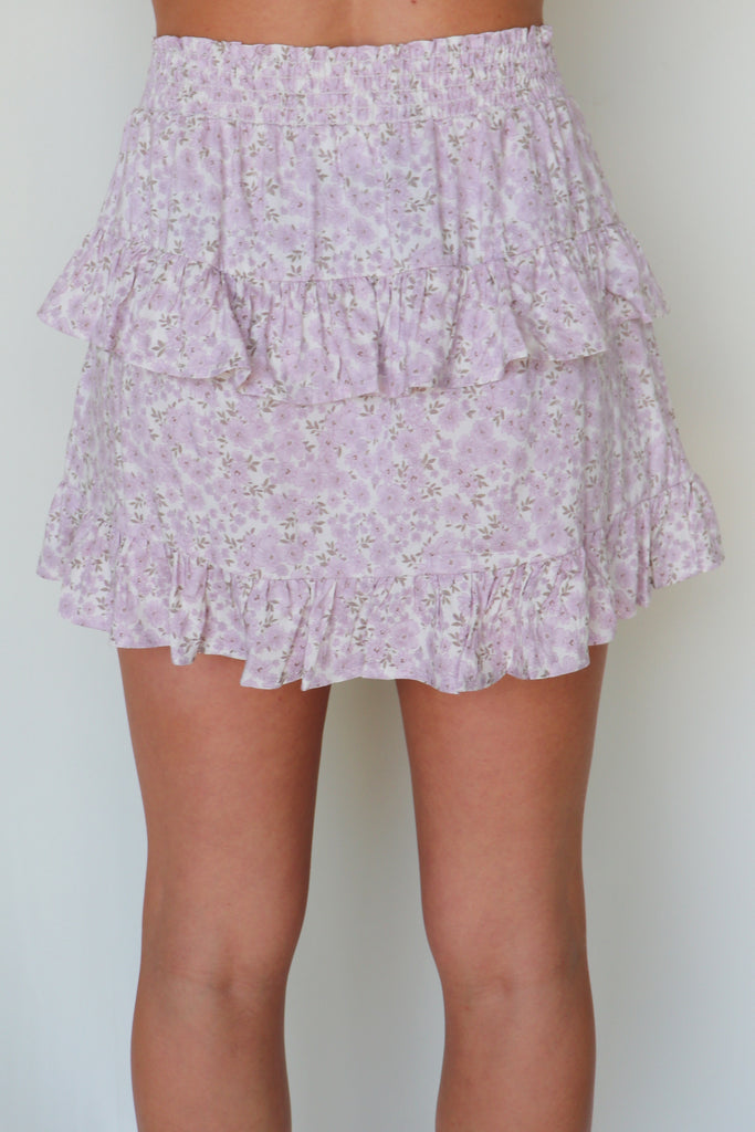 STEAL YOUR HEART LILAC RUFFLE SKIRT