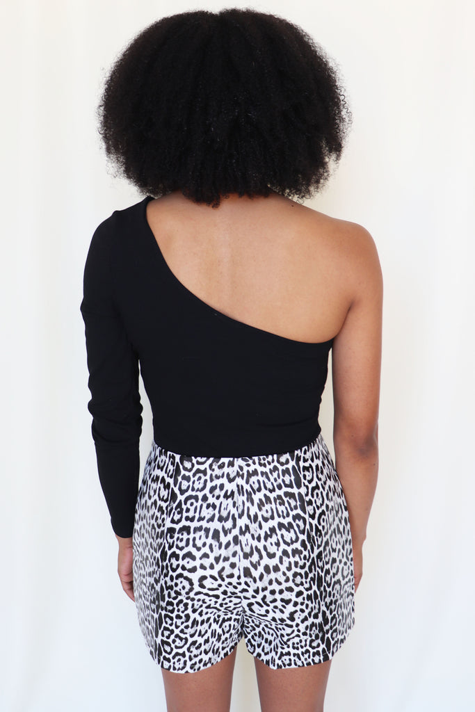 WATCH OUT LEOPARD SHORTS | LE LIS Blu Spero online shopping