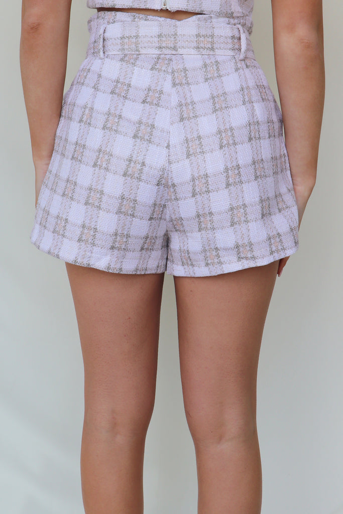NEED FOR TWEED PLAID SHORTS