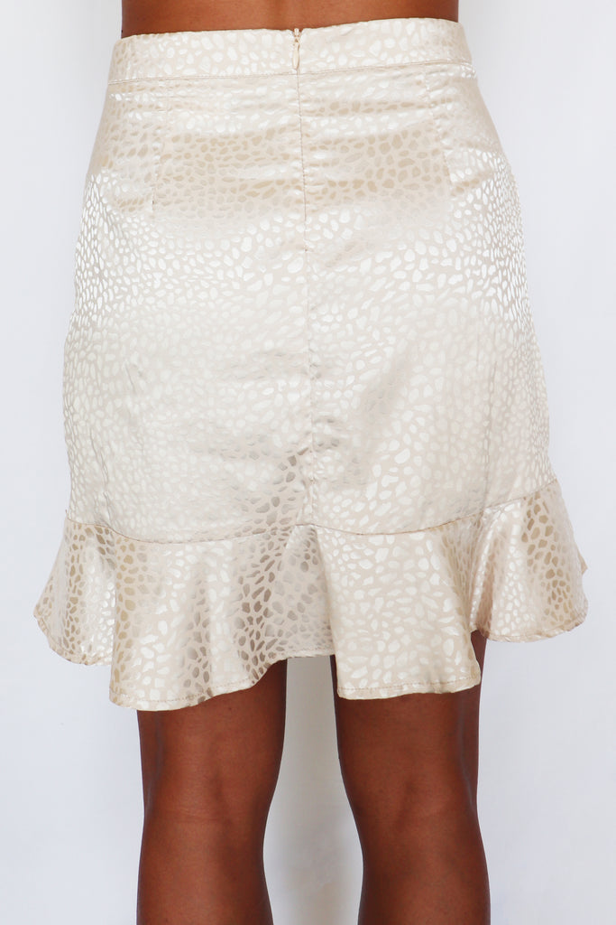 ADDICTED TO THE GLOW MINI SKIRT | BLUE BLUSH Blu Spero online shopping